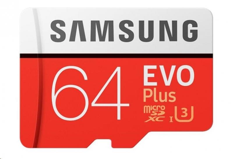 Samsung EVO Plus Micro SDXC 64 GB UHS-I U1 - obrázek č. 0