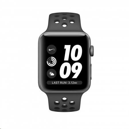 Apple Watch Nike+ Series 3 GPS, 38mm vesmírně šedý hliník a černý/antracitový sportovní řemínek Nike - obrázek č. 0