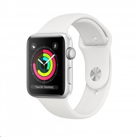 AppleWatch Series3 GPS, 42mm Silver/White (mtf22cn/a) - obrázek č. 0