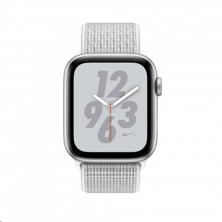 Apple Watch Nike+ Series 4 GPS, 40mm Silver Aluminium Case with Summit White Nike Sport Loop - obrázek č. 0
