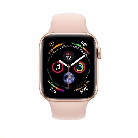 Apple Watch Series 4 GPS, 40mm Gold Aluminium Case with Pink Sand Sport Band - obrázek č. 0