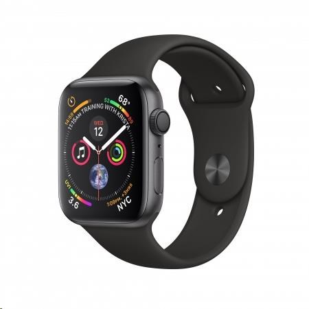 Apple Watch Series 4 GPS, 44mm Space Grey Aluminium Case with Black Sport Band - obrázek č. 0