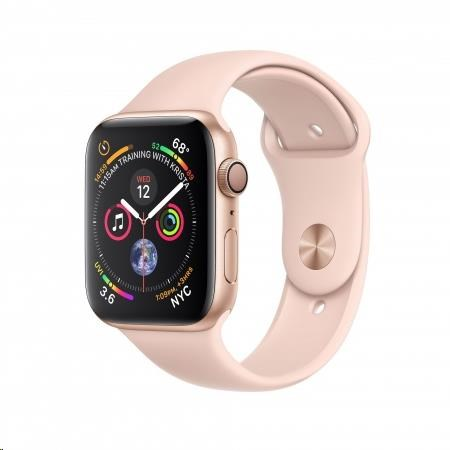 AppleWatch Series4 GPS, 44mm Gold Aluminium Case with Pink Sand Sport Band - obrázek č. 0