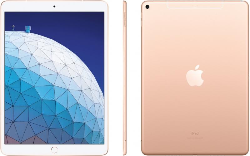 Apple iPad Air, 64GB, Wi-Fi + Cellular, zlatá, 2019 - obrázek č. 0