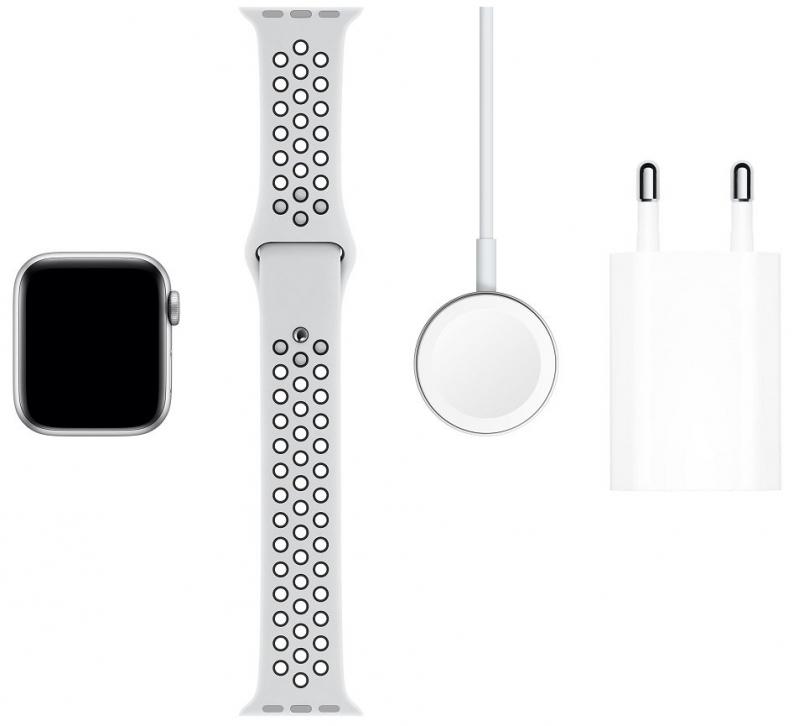 pple Watch Nike Series 5 GPS 40mm pouzdro ze stříbrného hliníku, platinový/černý sportovní řemínek  - obrázek č. 0