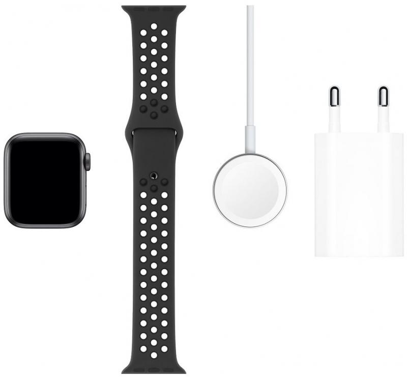 Apple Watch Series 5 Nike 40mm z černého hliníku, antracitový/černý sportovní řemínek Nike - obrázek č. 0
