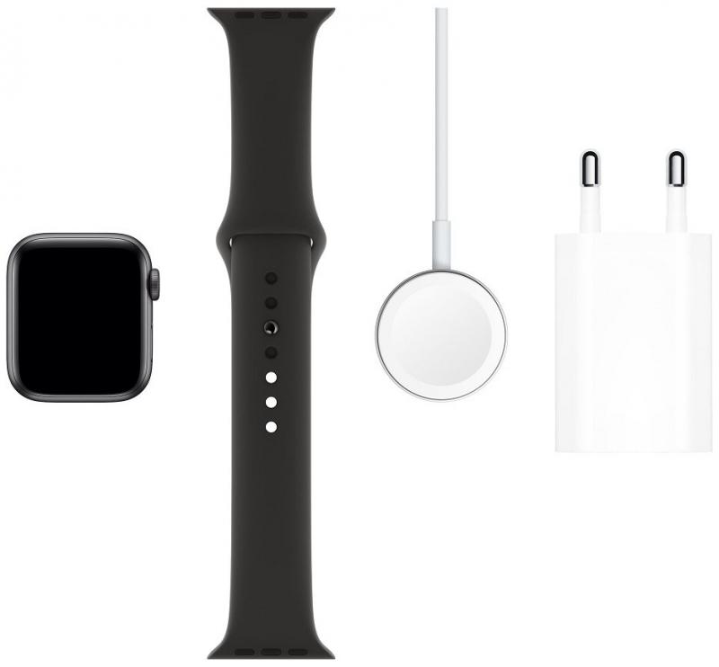 Apple Watch Series 5 GPS, 40mm pouzdro z vesmírně šedého hliníku s černým sportovním řemínkem  - obrázek č. 0