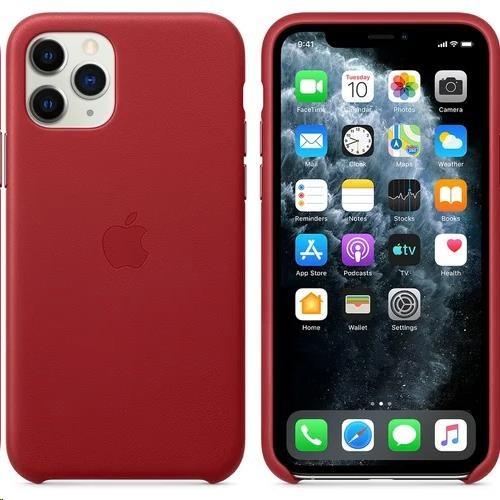 iPhone 11 Pro Leather Case - Red - obrázek č. 0