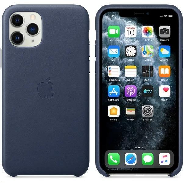 iPhone 11 Pro Leather Case - Midnight Blue - obrázek č. 0