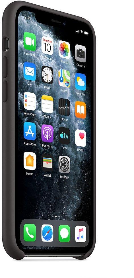 Apple silikonový kryt na iPhone 11 Pro, černá - obrázek č. 0