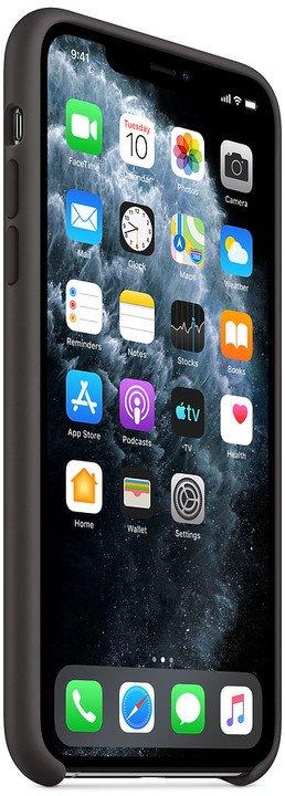 Apple silikonový kryt na iPhone 11 Pro Max, černá - obrázek č. 0