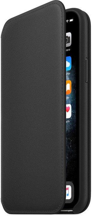 Apple kožené pouzdro Folio na iPhone 11 Pro, černá - obrázek č. 0