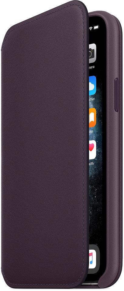 Apple kožené pouzdro Folio na iPhone 11 Pro, lilková - obrázek č. 0