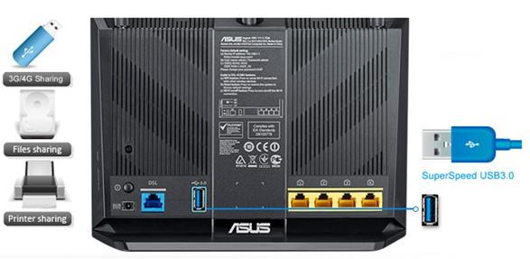 Asus DSL-AC68U ADSL/VDSL modem - obrázek č. 5