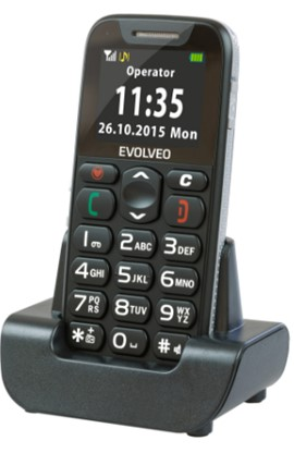 EVOLVEO EasyPhone, mobilní telefon pro seniory s nabíjecím stojánkem - obrázek č. 1