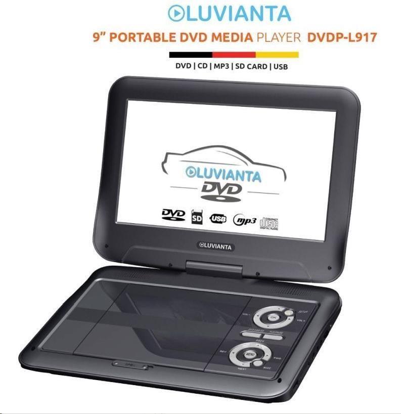Luvianta DVDP-L917 - DVD přenosný přehrávač - obrázek č. 0