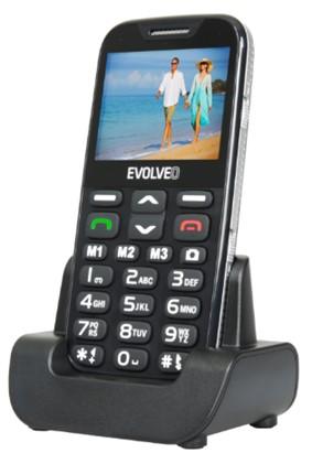 EVOLVEO EasyPhone XD s nabíjecím stojánkem - modrý - obrázek č. 2