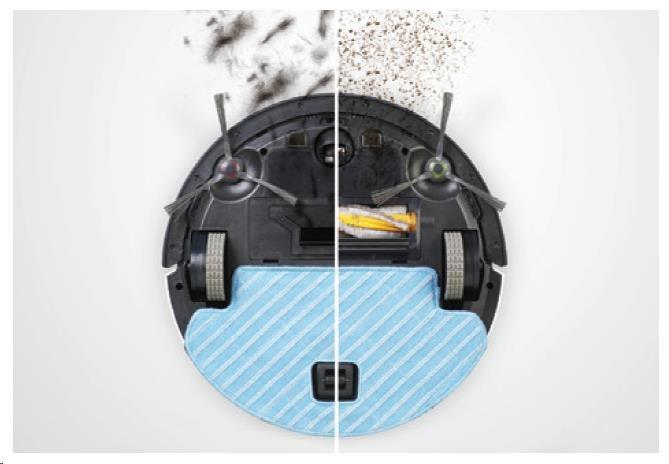 Ecovacs O610 - Robot pro čištění podlah s technologií OZMO, inteligentní čistící dráha, ovládání pom - obrázek č. 4