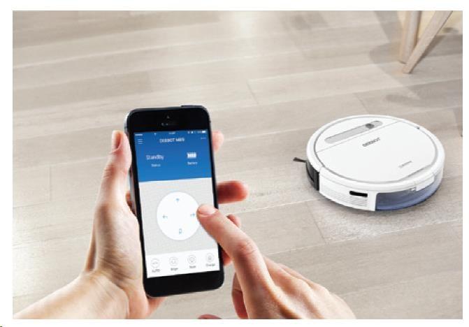 Ecovacs O610 - Robot pro čištění podlah s technologií OZMO, inteligentní čistící dráha, ovládání pom - obrázek č. 2