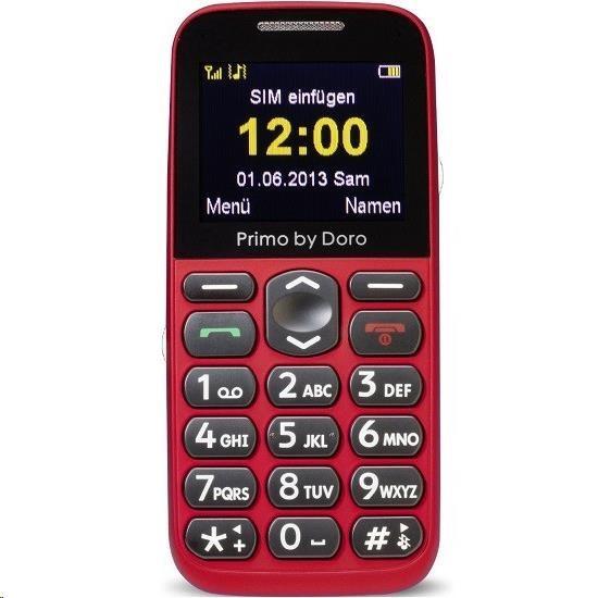 Doro Primo 366, červená + nabíjecí stojánek - obrázek č. 0