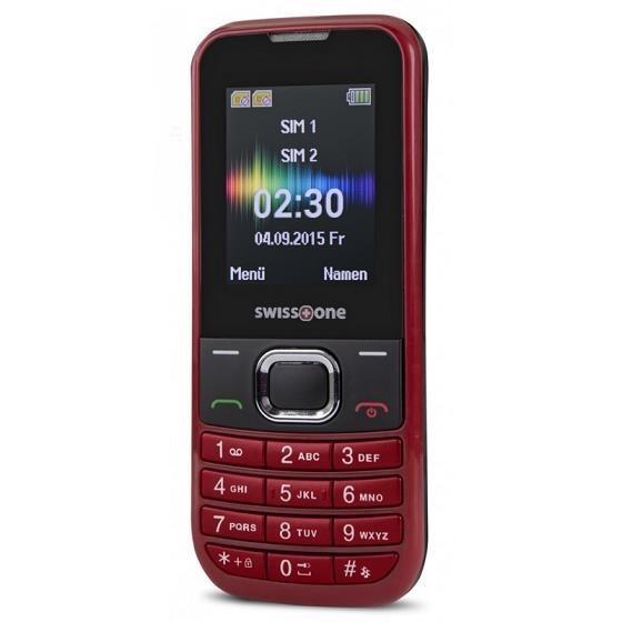 Swisstone SC230 Dual SIM, červená - obrázek č. 0
